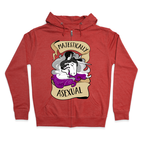 Majestically Asexual Zip Hoodie
