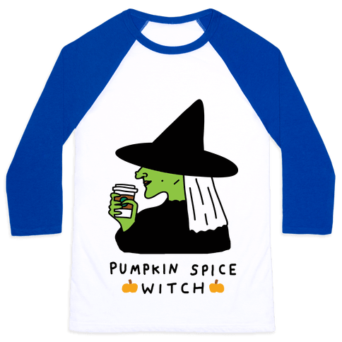 Pumpkin Spice Witch Baseball Tee