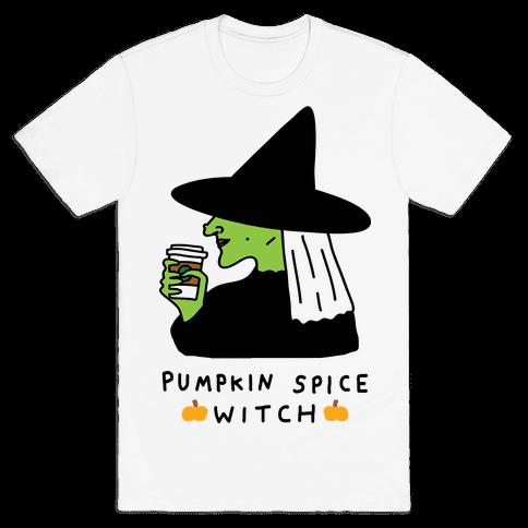 Pumpkin Spice Witch Mens T-Shirt