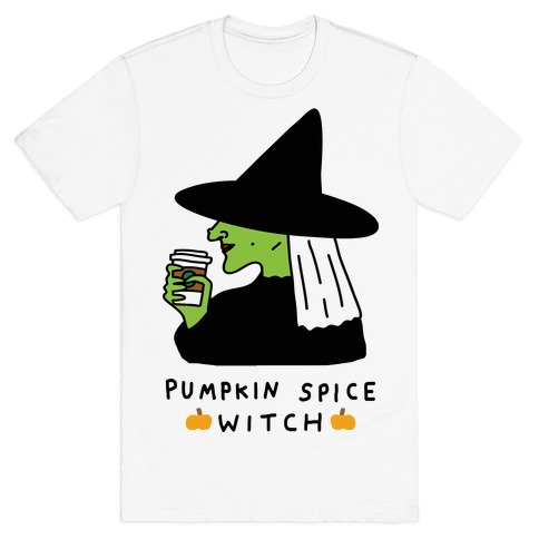 Pumpkin Spice Witch Mens T-Shirt