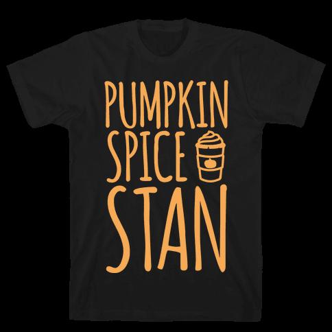 Pumpkin Spice Stan White Print Mens T-Shirt