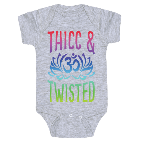 Thicc And Twisted Yoga Baby Onesy