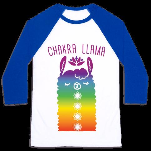 Chakra Llama Baseball Tee