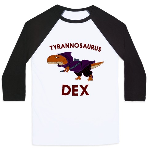 Tyrannosaurus Dex Baseball Tee