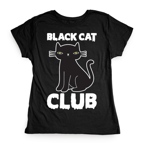 Black Cat Club Womens T-Shirt