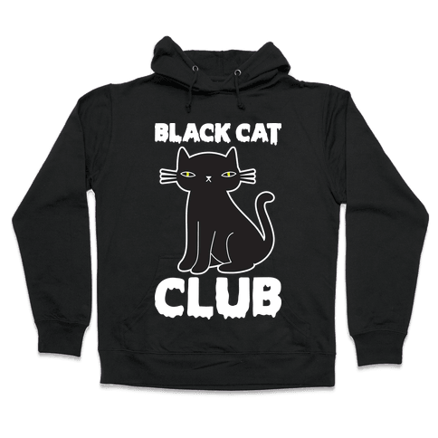 Black Cat Club Hooded Sweatshirt