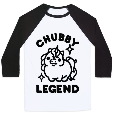 Chubby Legend Unicorn Baseball Tee