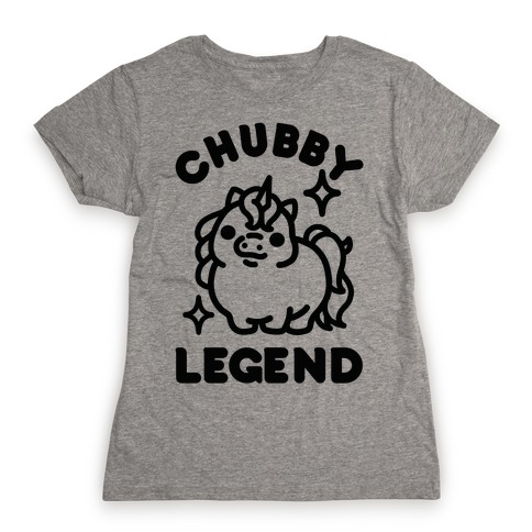Chubby Legend Unicorn Womens T-Shirt