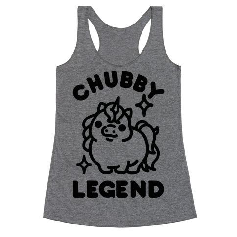 Chubby Legend Unicorn Racerback Tank Top