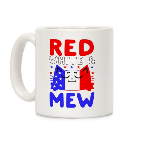 Red, White, And Mew Coffee Mug
