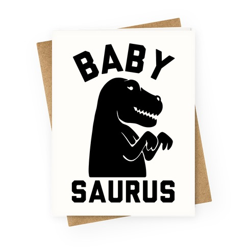 Baby Saurus Girl Greeting Card