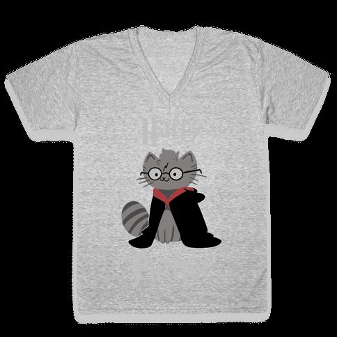 Harry Purrter V-Neck Tee Shirt