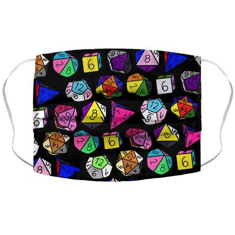 LGBTQ+ Pride Dice Accordion Face Mask