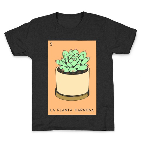 La Planta Carnosa Succulent Loteria Kids T-Shirt