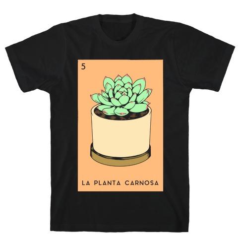 La Planta Carnosa Succulent Loteria T-Shirt