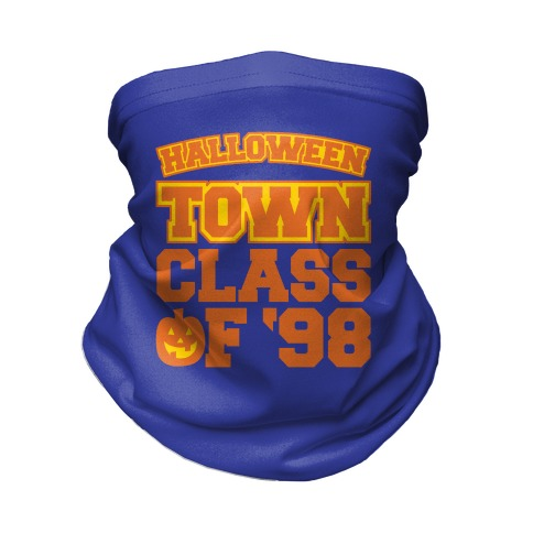 Halloween Town Class of '98 Parody White Print Neck Gaiter