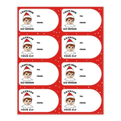Express Your Elf Sticker/Decal Sheet