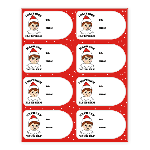 Express Your Elf Sticker and Decal Sheet
