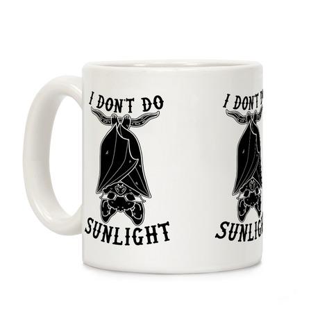 I Don't Do Sunlight Bat Coffee Mug