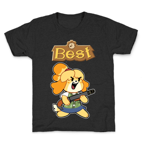 Best Friends Doomguy and Isabelle Kids T-Shirt