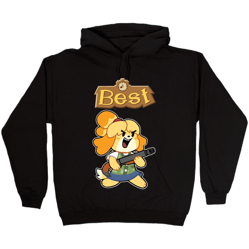 Best Friends Doomguy and Isabelle Hooded Sweatshirt