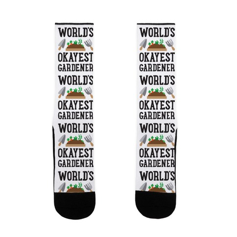 World's Okayest Gardener Sock
