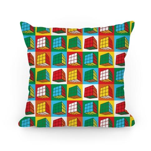 Rubix Cubes Pattern Pillow