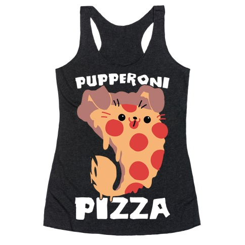 PUPPERoni Pizza Racerback Tank Top