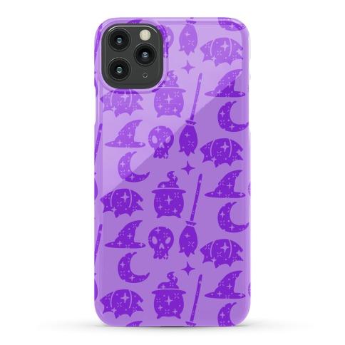 Sparkle Witch Pattern (Purple) Phone Case
