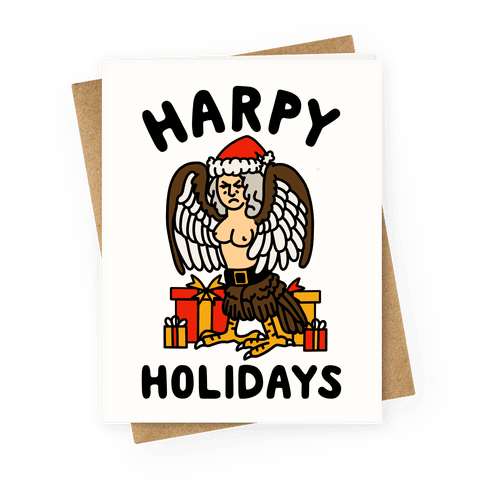 Harpy Holidays Greeting Card