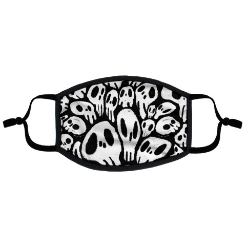 Soft Skulls Flat Face Mask