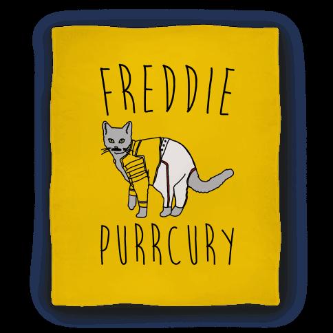 Freddie Purrcury Cat Parody Blanket