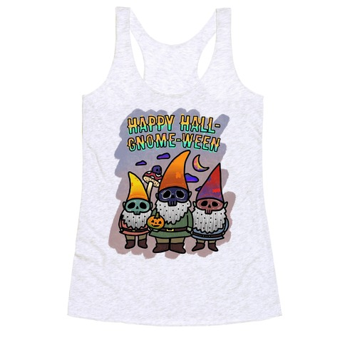 Coloring Book Gnome Racerback Tank Top