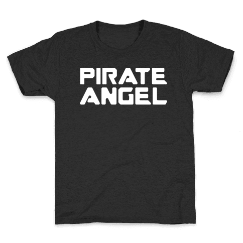 Pirate Angel Parody White Print Kids T-Shirt