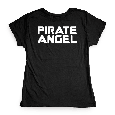 Pirate Angel Parody White Print Womens T-Shirt