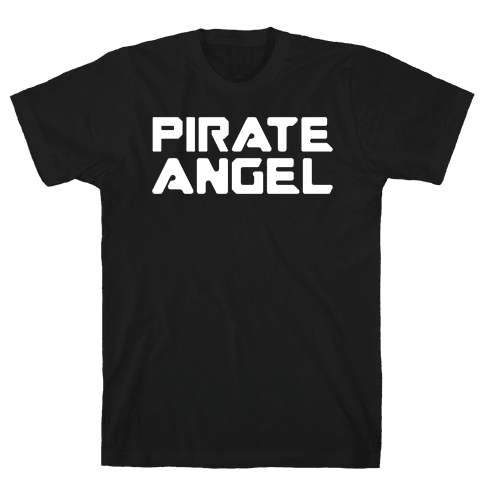Pirate Angel Parody White Print Mens T-Shirt