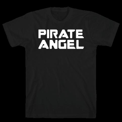 Pirate Angel Parody White Print Mens T-Shirt