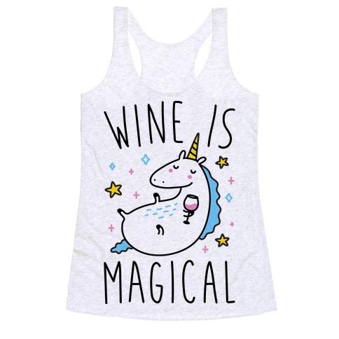 Wine Is Magical Racerback Tank Top