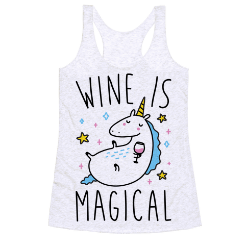 Wine Is Magical Racerback Tank Top