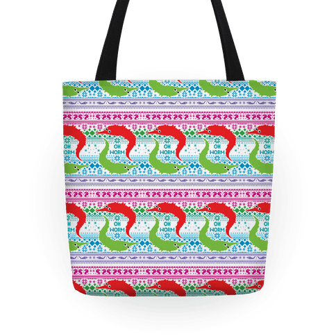Oh Worm Ugly Sweater Tote