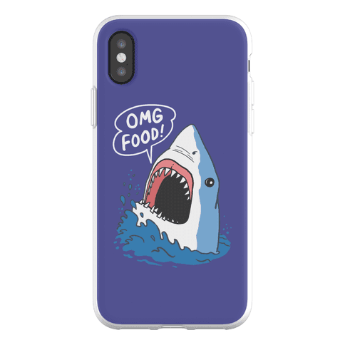 Omg Food Shark Phone Flexi-Case