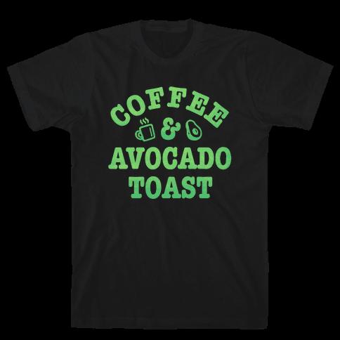 Coffee & Avocado Toast Mens T-Shirt