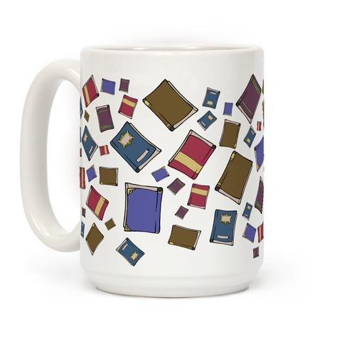 Book Collection Pattern Coffee Mug