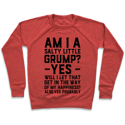 A Salty Little Grump Pullover