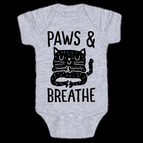 Paws And Breathe Yoga Cat Baby Onesy
