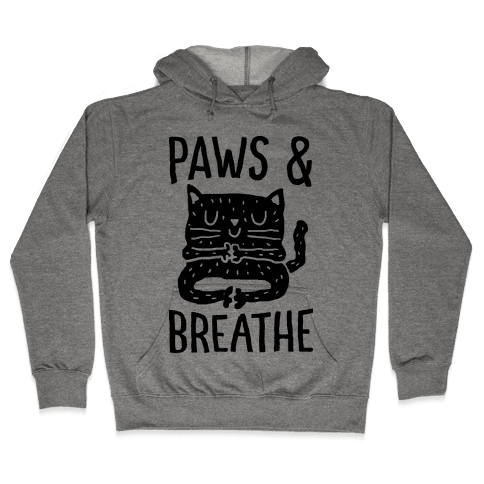 Paws And Breathe Yoga Cat Hooded Sweatshirt