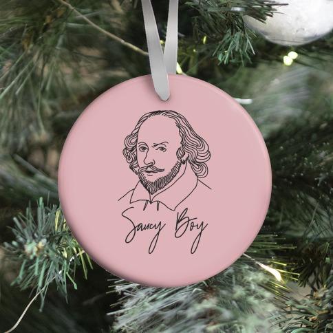Saucy Boy William Shakespeare Ornament