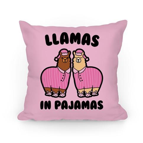 Llamas in Pajamas Pillow