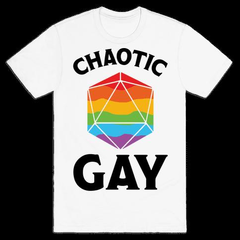 Chaotic Gay Mens T-Shirt