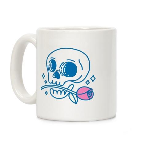 Hopeless Romantic Skull Coffee Mug